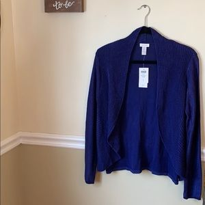 Beautiful cozy carbon blue open cardigan